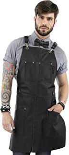 black barber apron