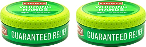 O'Keeffe's Working Hands Hand Cream, 3.4 ounce Jar, (Pack of 2)