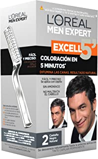 Tinte para cabello Permanente para hombre Excell 5 L'Oréal Paris 2 Castaño Negro