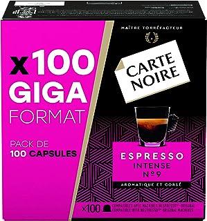Carte Noire Café Espresso Intense N°9 Capsules Compatibles Nespresso, Paquet de 100 capsules