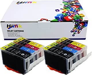 HIINK Compatible Ink Cartirdges Replacement for Canon PGI-5 CLI-8 use with Pixma iP3300 iP3500 MP510 MP520 MX700(2PGbk, 2C, 2M, 2Y, 8-Pack)