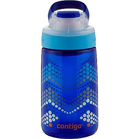Contigo AUTOSEAL Gizmo Sip Kids Water Bottle, 14 oz, Sapphire Bubble Chevron