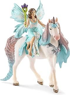 Schleich Fairy Eyela with Princess Unicorn Toy, Multicolor