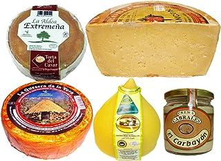 comprar comparacion Lote de Quesos Surtidos, Puro de Oveja, Torta del Casar, Puro de Cabra, Tetilla y Crema de Cabrales.