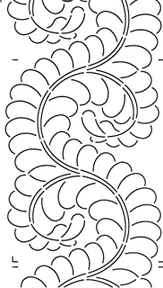 Quilting Creations Feather Border for Use with 422QC Quilt Stencil, 8