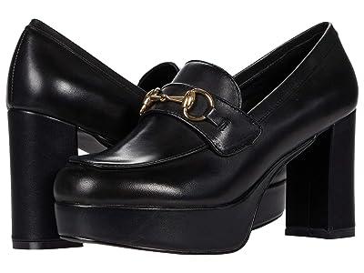 Steve Madden Cinderella (Black Leather) Women