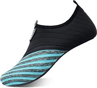 QACOHU النساء الرجال أحذية المياه حافية القدم الجلد حذاء الماء سريع الجفاف للغطس ركوب الأمواج السباحة شاطئ اليوغا
