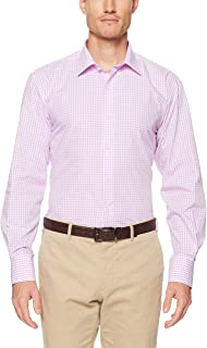Van Heusen Men's Euro Tailored Fit Shirt Mauve Medium Check