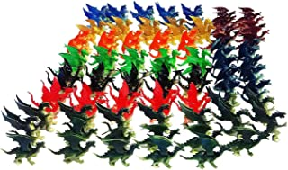100 Pieces Plastic Fire Breathing Mini Dragons 2.5 Inch - 3 Inch