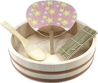 Hangiri Holzschüssel für Sushi Reis Ø 30 cm Holzbottich 4