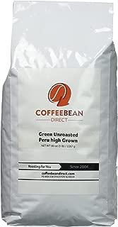 Green Unroasted Peruvian High grown, Whole Bean Coffee, 5-Pound Bag