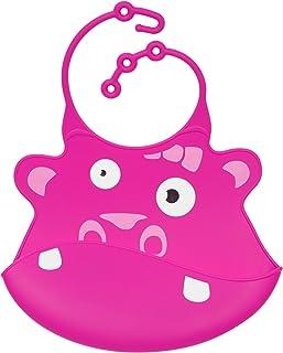 Ulubulu Silicone Bib, Hippo