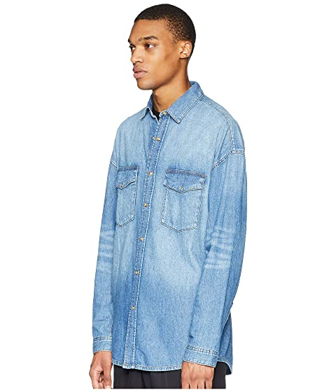 ad22e848cc The Kooples Washed Denim Shirt at Luxury.Zappos.com