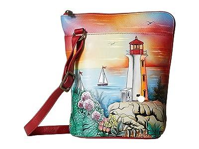 Anuschka Handbags Two Sided Zip Travel Organizer 493 (Guiding Light) Cross Body Handbags