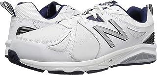 (ニューバランス) New Balance メンズトレーニング?競技用シューズ?靴 MX857v2 White/Navy 12.5 (30.5cm) D - Medium