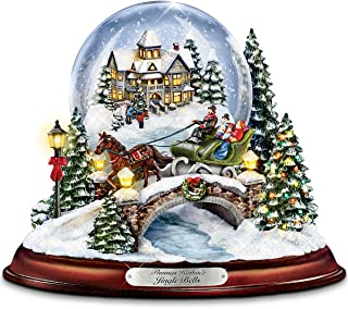 Bradford Exchange Thomas Kinkade Jingle Bells Illuminated Musical Christmas Snowglobe by The