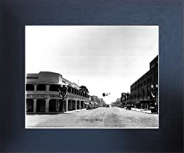 Impact Posters Gallery Framed Wall Decoration Las Vegas, Overland Hotel 1930 Vintage Motor Car Old City Black and White Espresso Framed Art Print Picture (20x24)