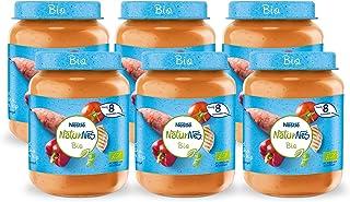 NaturNes Bio Zoete Aardappel Paprika Tomaat Kip - babyvoeding biologisch - vanaf 8 maanden - 6 stuks