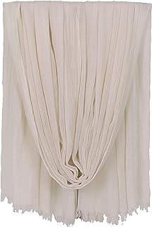 LMVERNA Women Solid Color Scarfs Large Long Lightweight Fringed Headscarf Linen Sheer Shawl Wrap
