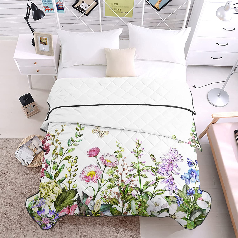 DecorLovee Bedding Duvets Bombing new work Vintage Flowers Butt Herbs Watercolor Over item handling