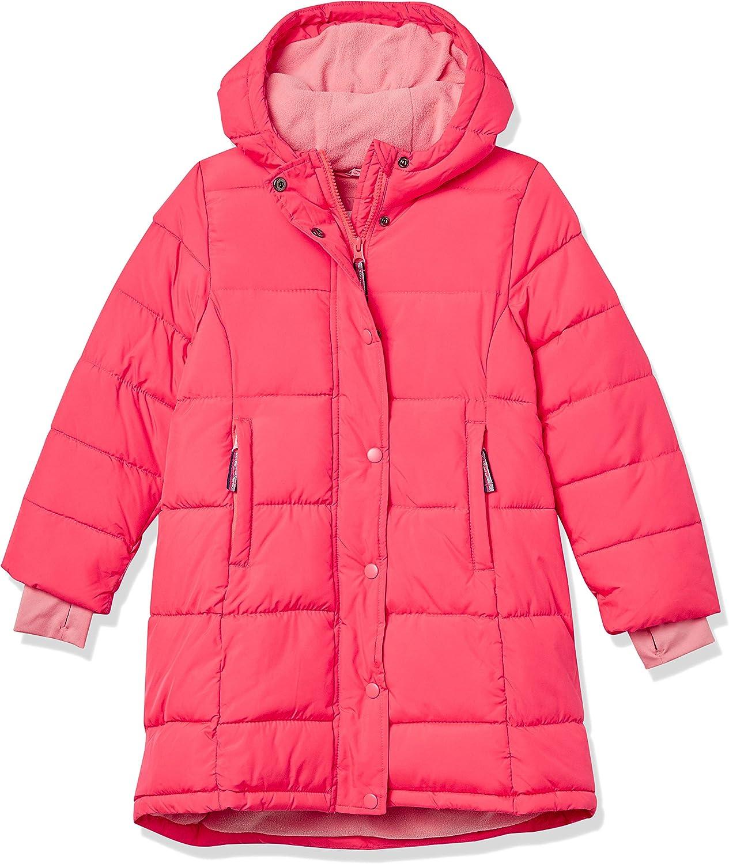 Essentials Girls Long Heavy-Weight Hooded Puffer Jackets