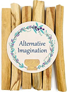 Alternative Imagination Premium Palo Santo Holy Wood Incense Sticks, for Purifying, Cleansing, Healing, Meditating, Stress Relief. 100% Natural and Sustainable, Wild Harvested. (6)