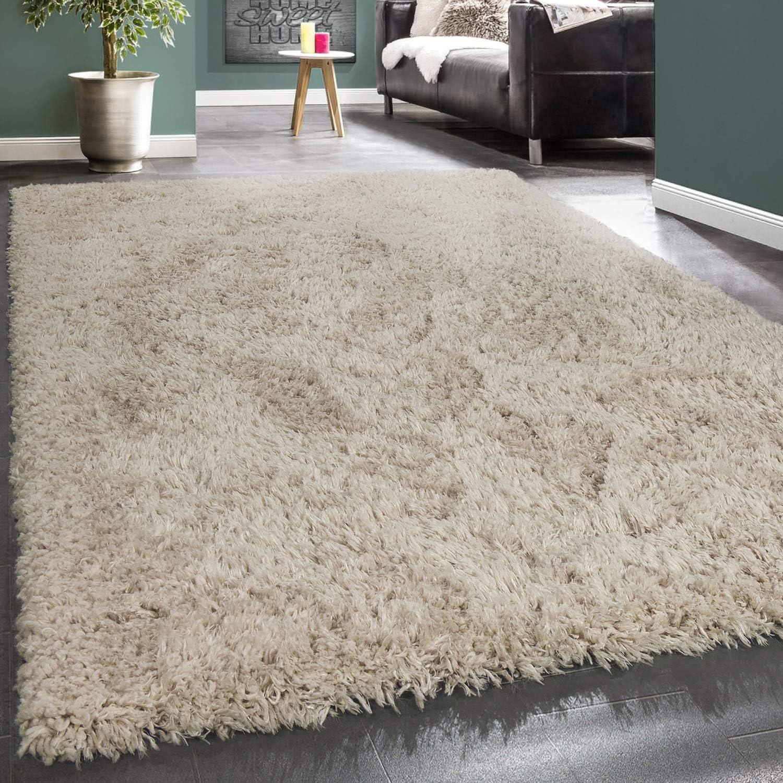 Dimension:10x10 cm Tapis Shaggy Haut Poil Long Poil Qualit/é et Prix abordable en Gris
