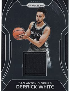 2017 Panini Prizm Authentic Derrick White Game Worn Jersey Card