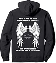 My Dad Is My Guardian Angel Pullover Hoodie - Text on Back