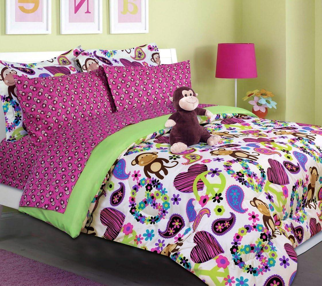 Teen Tween Girls Kids Bedding - Fabian Max 45% OFF Bed Genuine Free Shipping in Dou Bag. Monkey A