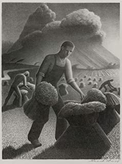 Berkin Arts Grant Wood Giclee Art Paper Print Art Works Paintings Poster Reproduction(Approaching Storm) #XZZ