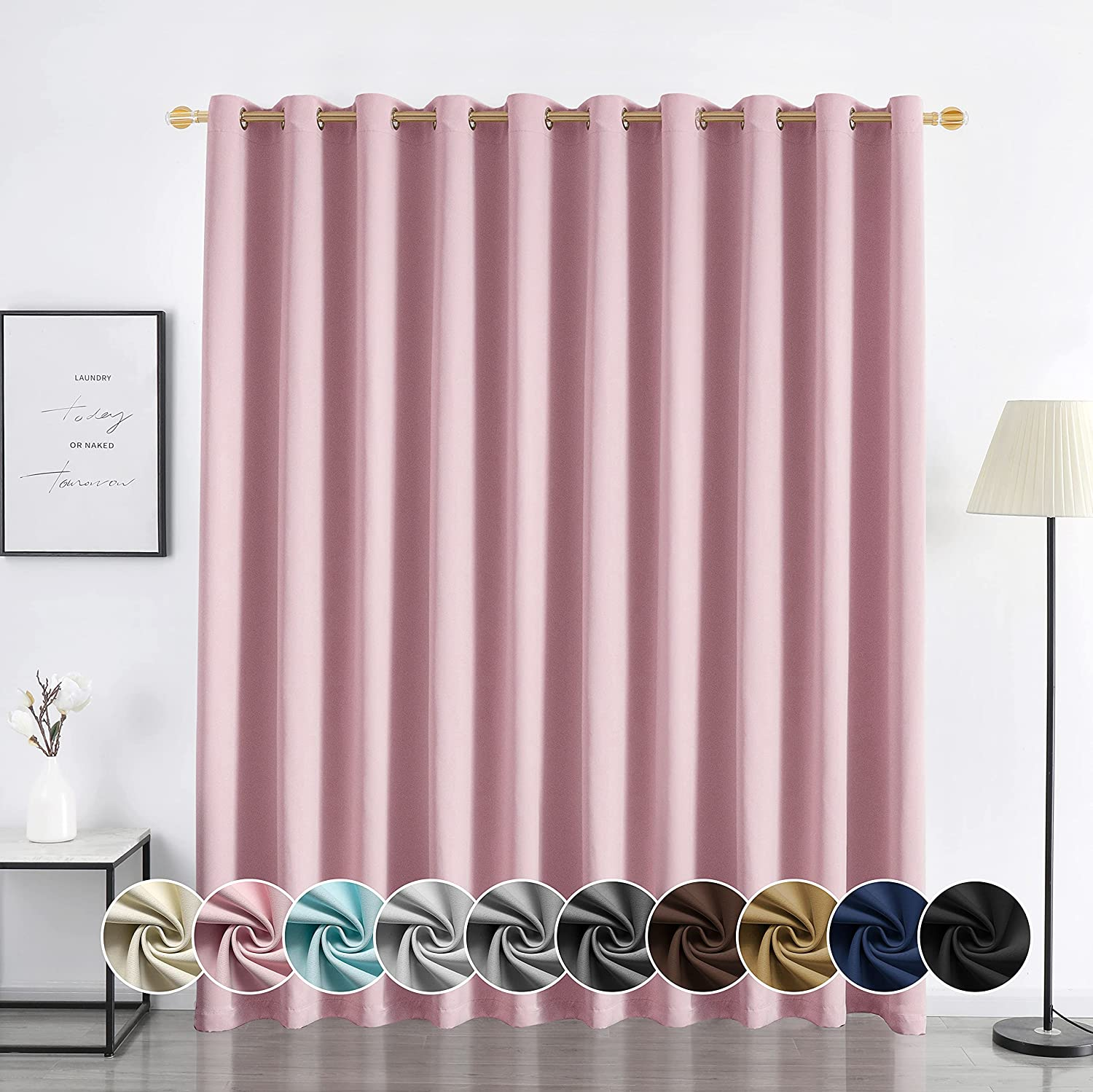 YURIHOME SALENEW Max 74% OFF very popular Blackout Curtains for Bedroom I Noise Thermal Reducing