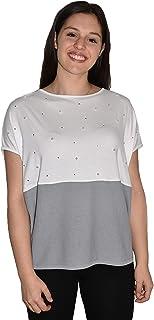 T-Shirt Donna, Veri Swarovski, Perle, Made in Italy