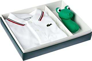 Lacoste Baby-Boys Gift Box W Rattle, White/Navy Blue-Ladybird, 12 Months