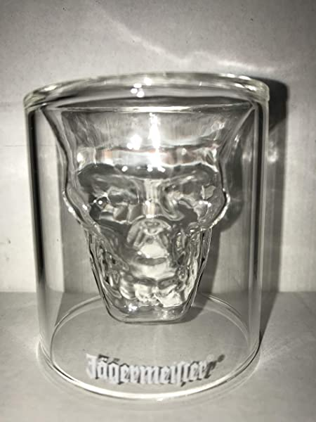 Jagermeister Special Edition Halloween 3D Skull One Ounce Shot Glass