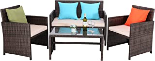 Best wicker outdoor table and chairs Reviews