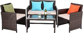 Best beige rattan garden furniture Reviews