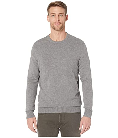 Calvin Klein Long Sleeve Liquid Touch Crew Neck Sweater (Medium Grey Heather) Men
