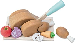 Le Toy Van Honeybake Chicken 'Sunday Roast Set' + Tray and Knife