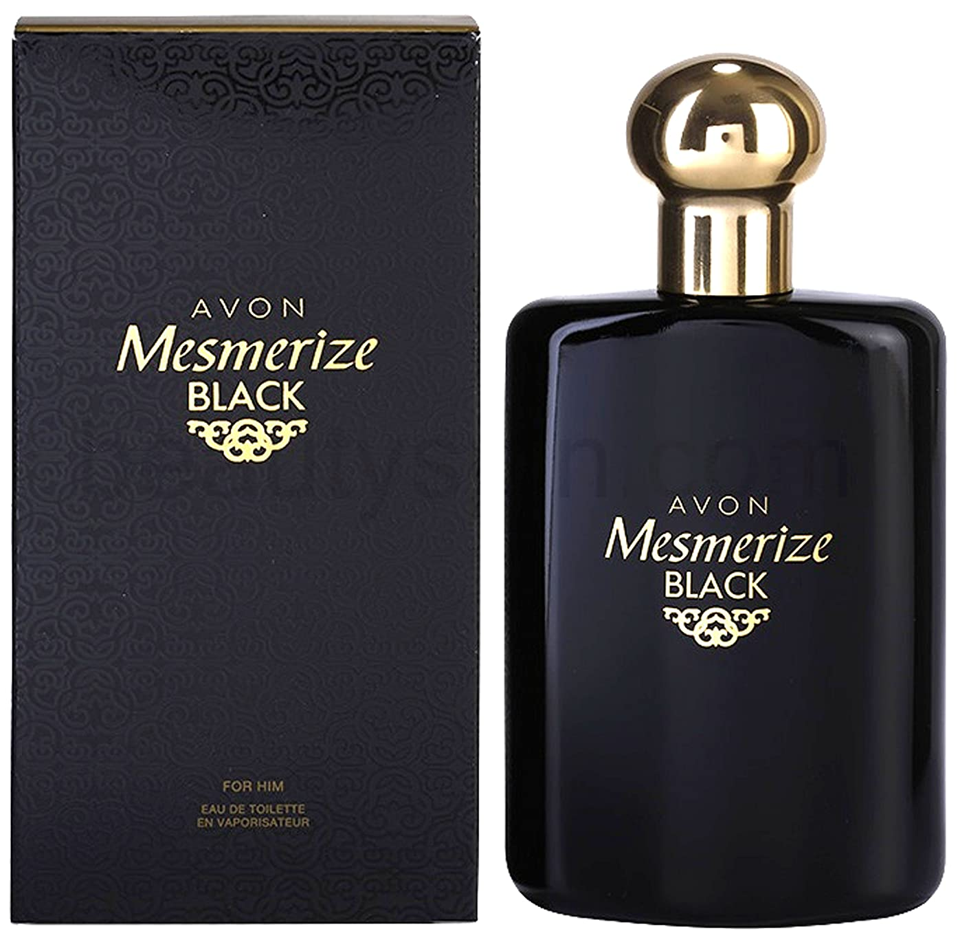 文化葉巻望まないAVON Mesmerize Black For Him Eau de Toilette 100ml