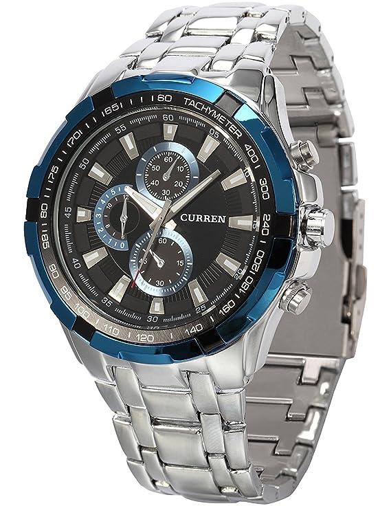 CURREN Analog Blue Dial Men's Watch CUR013 Wrist Watches