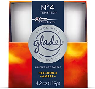 Glade Atmosphere Collection Crafted Soy Candle Air Freshener, No 4 Tempted, 4.2 oz