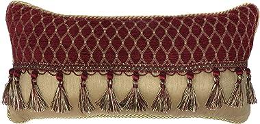 Croscill Roena Boudoir Pillow, Burgundy