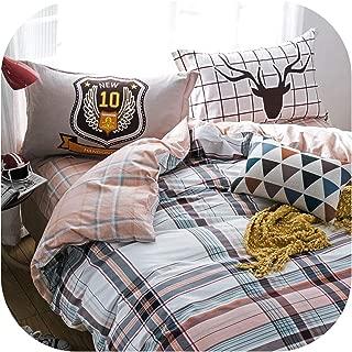 QianQianStore Sheet Pillowcase Duvet Cover Set Pastoral Bird Printing Bedding Sets Queen Double Full Twin Size Bedlinen 100% Cotton,2023362,AUdouble 180x210