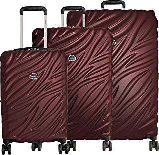 Alexis 3-Piece Lightweight Luggage Set Hardside Spinner Suitcase with TSA Lock (21