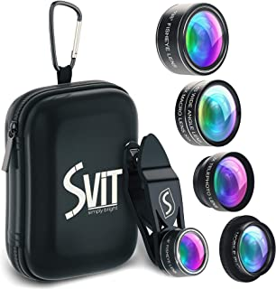 Phone Camera Lens Kit - 5 in 1 Universal Set For iPhone, Samsung, Mobile Phones and Tablets - 2X Zoom Telephoto, 198 Fisheye, 0.63X Wide Angle, 15X Macro, CPL Filter Lens For Cell Phones