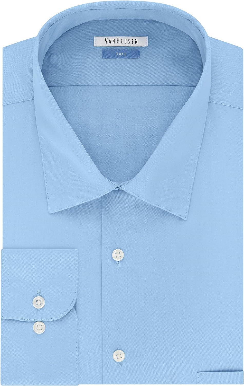 Van Heusen Men's Big and Tall Dress Shirts Lux Sateen Solid