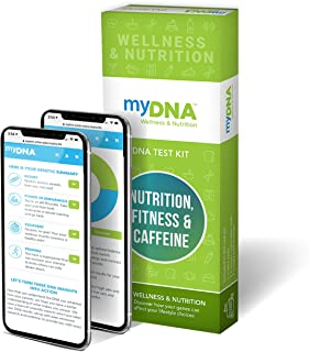 myDNA Nutrition, Fitness & Caffeine DNA Test - Personalized and Actionable Genetic Insights for 18 Genes That Reveal Your Body's Potential