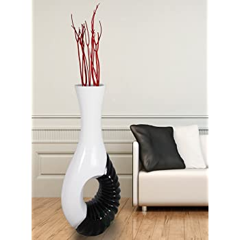Amazon.com: Modern Black And White Large Floor Vase: Home & Kitchen