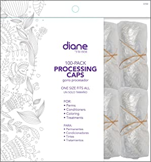 Diane Hair Processing Caps 100 Pack, Clear